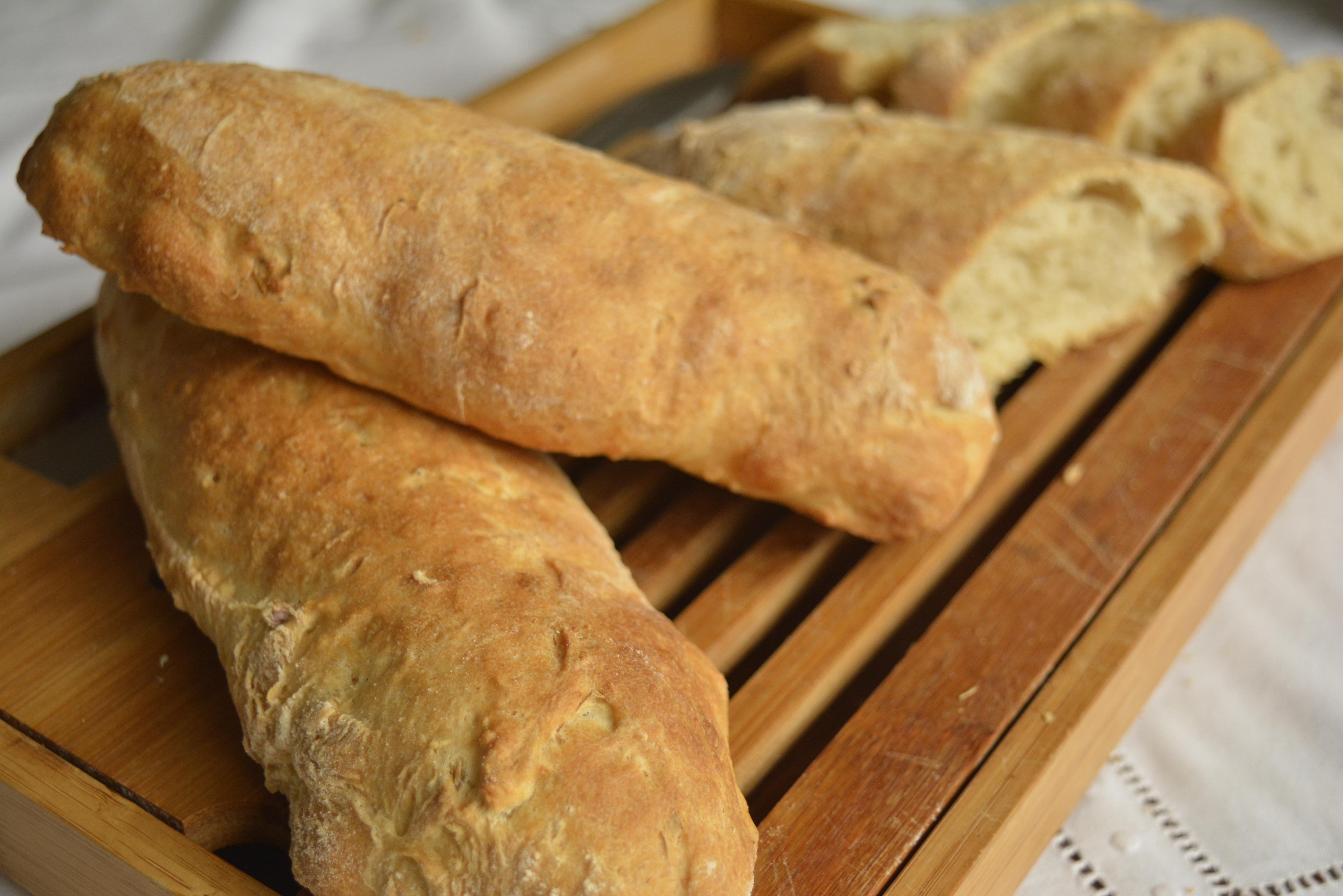 pão ciabatta feito com a técnica strech and fold