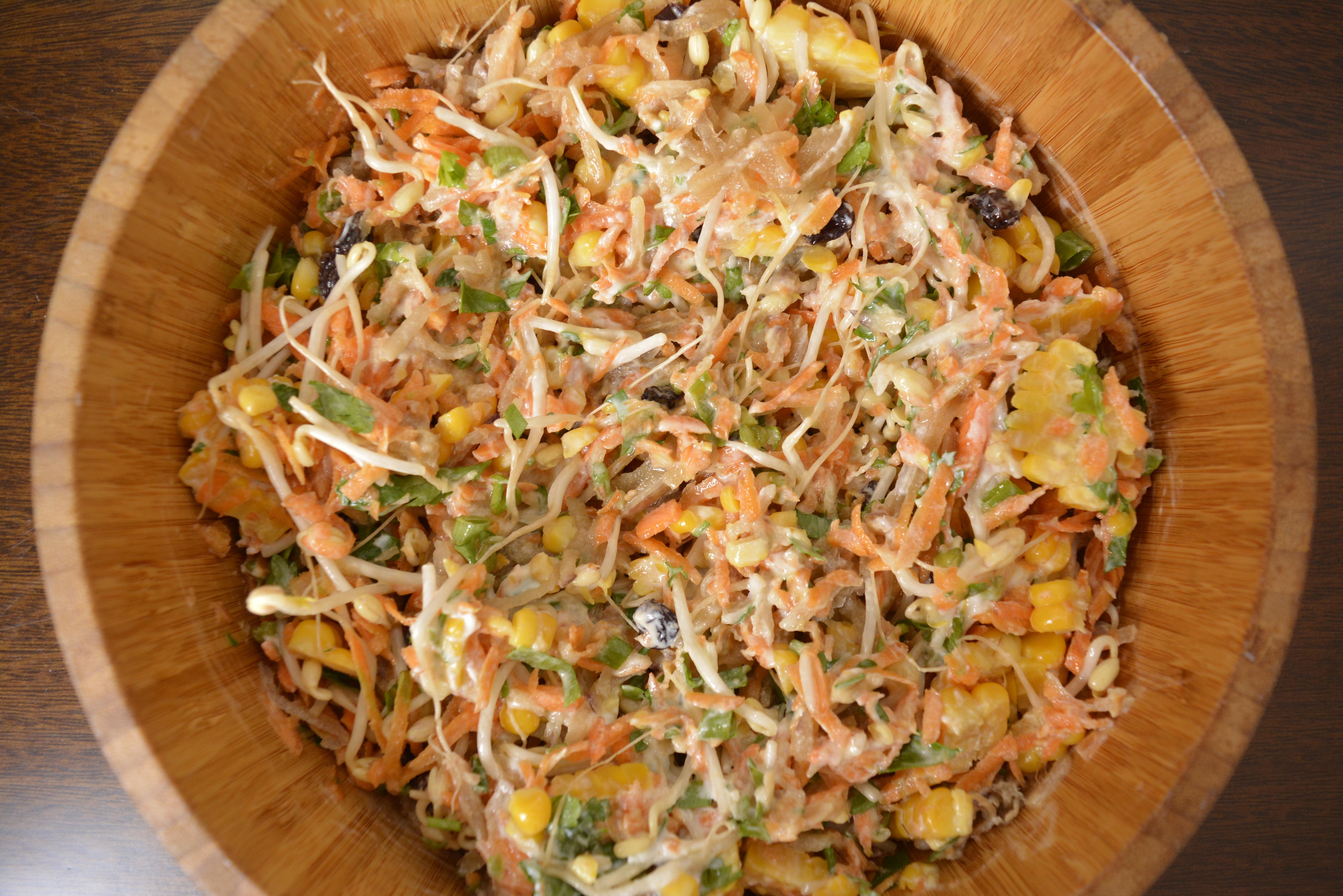 Salpicão vegetariano com batata yacon